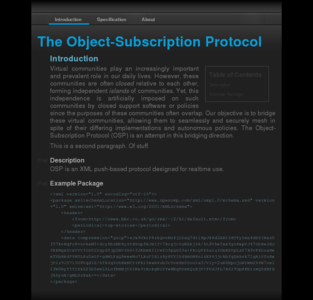 OpenOSP - Home of the Object-Subscription Protocol