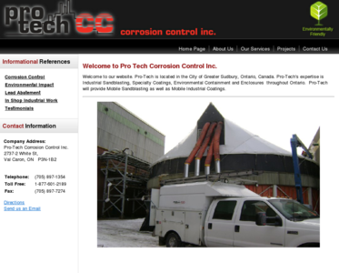 Pro-Tech Corrosion Control Inc. | Home Page