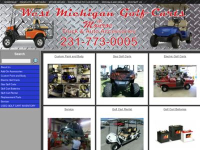 West Michigan Golf Carts in Muskegon Michigan Phone: 231-773-0005 - All the best prices on used golf carts anywhere in michigan